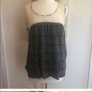 Bohemian lace sleeveless top